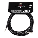 Fender 10' Angled Black Tweed Custom Shop Performance Series Cable