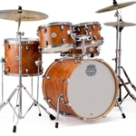 Mapex ST5045FIC Storm 5Pc Fusion Drum Set w/Hardware, Camphor Wood Grain w/Chrome