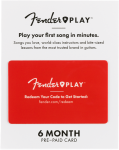 Fender Play 6 Month Subscription Prepaid Card
