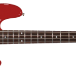0310400525 Squier Affinity Series Precision Bass, Rosewood Fretboard, Metallic Red