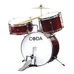 CODA Junior Drum Set, 3pc -Red
