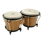 LP CP Traditional Natural Wood Bongos w/Bag