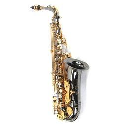 Antigua AS4240 Alto Sax Black Nickel Plated Body with Gold Plated Keys