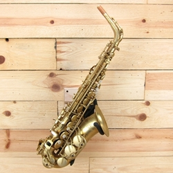 Antigua Model 25 PowerBell Alto Sax, Raw Brass Finish
